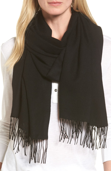 Stress free travel Light weight scarf and wrap in 8 colors, blue, gray, white, pink, black, etc.