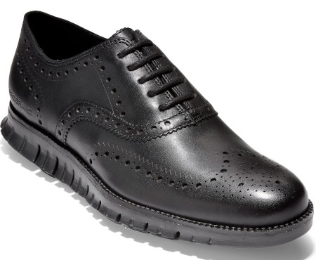 Classic brogued leather derby anatomically engineered for comfort.