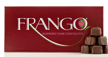 Benefits of dark chocolate - 45 piece box of dark chocolate with sweet raspberries.