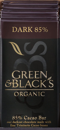 Bulk pack of bars made with Cocoa butter and a touch of vanilla combines with 85 percent Cacao.