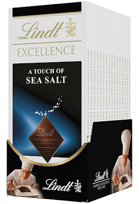 Made with complex dark chocolate enhanced by Fleur de Sel.