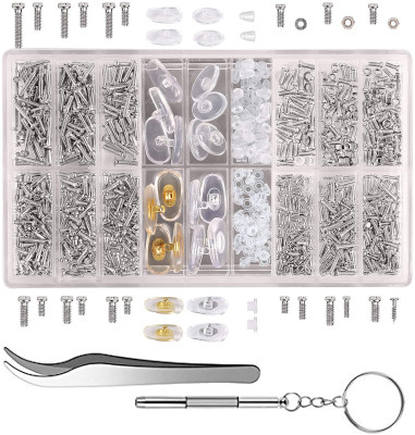 Repair eyeglasses or jewelry with the right parts and tools.