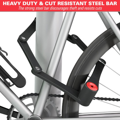 Tough, drill resistant steel bars to secure a bike.