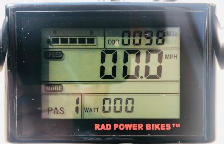 e-bike instrument panel
