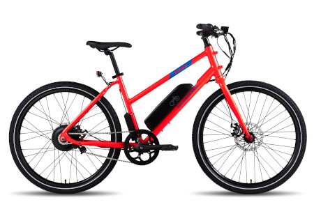 Available in 4 colors and various models for a sleek electric bike.