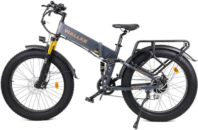 Foldable, shock absorbing electric mountain bike for conquering streets or mountains.