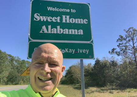 cross country bike to Alabama