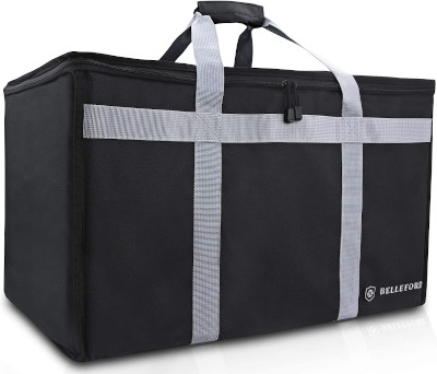 Sturdy insulated bag to carry all sorts of food packages.