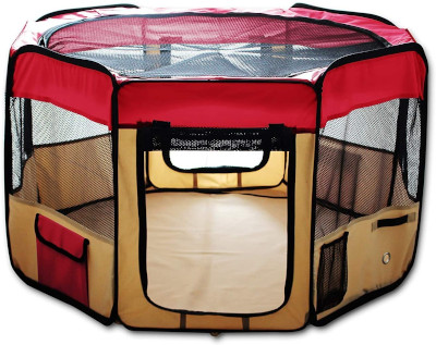 For use indoors or outdoors to keep puppy safe but able to play and move around.