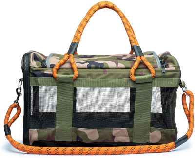 Airline compliant travel bag and bed with built in leash cord.
