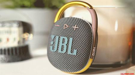 Multicolored stylish portable speaker.