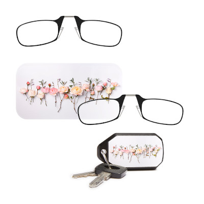 Flower case for nose pinch readers for Mother's Day gift idea.
