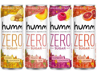 4 sugar free kombucha flavors for refreshing and health drink.
