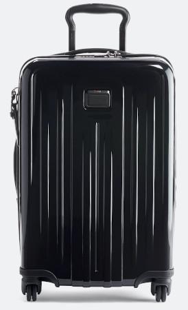 TSA lock, expandable, 3 pockets, rotating wheels for easy travel.