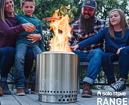 Stainless steel fire pit, easy to use, travel or store.